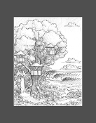 """Wilbur's Treehouse"" pencil sketch print."